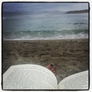 Reading a good book at the stunning Oregon coast!